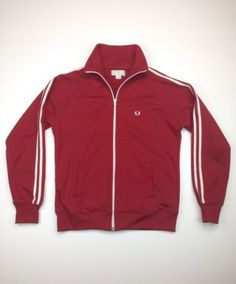 Fred Perry Womens Classic Twin Tape Track Jacket Indie Mod Terraces Sz 8 US 40
