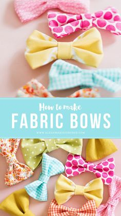 How to Make Fabric Bows                                                                                                                                                                                 More