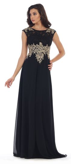 Mother of the Bride Long Dress Formal Plus Size Evening Party Gown Groom-The Dress Outlet