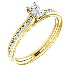 Petite Crescent - Tacori Gold - Engagement Rings Guide To Buying Engagement Rings And Wedding Rings Engagement Rings Under 1000, Engagement Ring Guide, Emerald Cut Engagement, Gold Engagement Rings, Emerald Diamond, Diamond Rings, Diamond Jewelry, Love Ring, Turquoise Jewelry