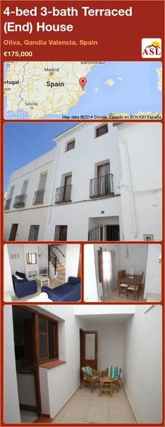 4-bed 3-bath Terraced (End) House in Oliva, Gandia   Valencia, Spain ►€175,000 #PropertyForSaleInSpain