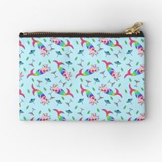 """""""Catfish Mermaid Party All Over Pattern"""" Zipper Pouch by grumblebeeart 
