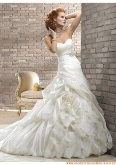Traditionelles und elegantes Herz-Ausschnitt Brautkleid aus Taft A-Linie 2013