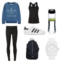 """Sweat"" by andthisisthereasonwhy on Polyvore featuring adidas Originals, adidas and Riedel"