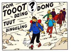 Tintin a la montagne Hergé