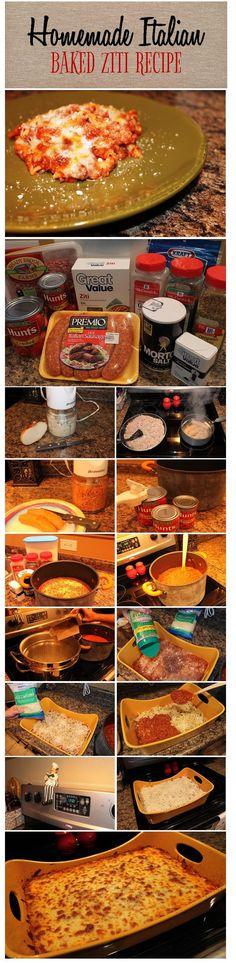 Homemade Italian Baked Ziti Recipe   Brass & Whatnots