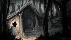 Once Upon A Time - Snow Discovers Dwarf's Cottage by becsketch.deviantart.com on @deviantART