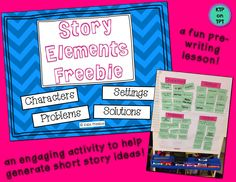 Story Elements freebie!!  Make a pre-writing chart with your class!