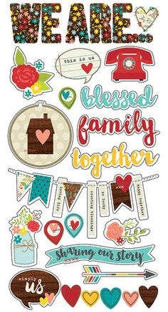 Pre-Order > Simple Stories > We Are Family Chipboard Stickers - Simple Stories - PRE ORDER: A Cherry On Top