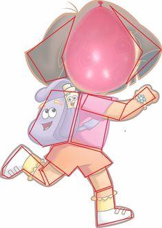 Componentes Piñata Dora la Exploradora