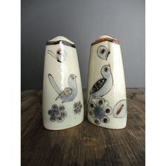 Vintage Blue Bird Salt and Pepper Shakers  by JustSmashingDarling, $36.00