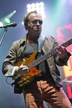 Mark King - bassist and lead singer for Level 42. The British band began in jazz funk fusion but moved to synthetic dance pop in the mid-'80s for their commercial peak.