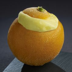 ARANCIA RIPIENA  Single serving ~ A real orange shell filled with a tangy orange sorbet.