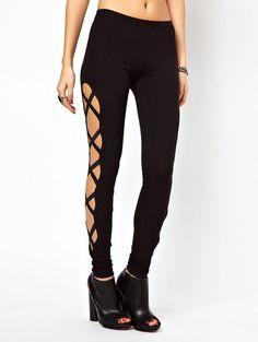 Shop Black Skinny Side Bandage Elastic Leggings online. Sheinside offers Black Skinny Side Bandage Elastic Leggings & more to fit your fashionable needs. Free Shipping Worldwide!