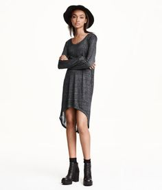 Check this out! Long jersey top with seam at back, long sleeves, and rounded hem. Slightly longer at back. - Visit hm.com to see more.