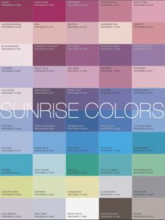 More Alive With Color - Sunrise (cool) colors