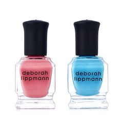 217206 Deborah Lippmann 2 Piece Life's a Beach Nailcare Collection QVC Price:£13.50 + P&P: £2.95 A fun Deborah Lippman nail polish duo in quick-drying and long-wearing formulas with thicker consistencies and brushes which are more densely packed to ensure the colour glides on evenly and effortlessly.