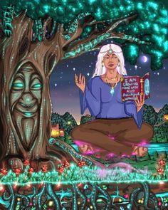 Wicca, Psychadelic Art, Spirited Art, Black Girl Art, Black Art, Witch Art, Witch Aesthetic, Magic Art, Dope Art