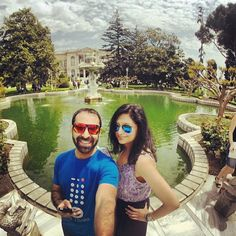 Us at the Dolmabahce palace in Istanbul! #Istanbul #Turkey #Travel #TravElDiaries #Palace #architecture #Ottoman #Holiday #Royal