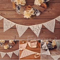 2.5M Bunting Lace Fabric Banners Wedding Decor Vintage Party Garland Decoration in Home & Garden, Greeting Cards & Party Supply, Party Supplies | eBay