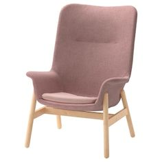 IKEA - VEDBO, High-back armchair, Gunnared light brown-pink, The timeless design of VEDBO makes it easy to place in various room settings and match with other furniture. Read about the terms in the guarantee brochure. Armoire D'angle, Ikea Armchair, High Back Armchair, Fabric Armchairs, Vintage Chairs, Diy Chair, Wood Veneer, Modern Chairs, Cushion Covers