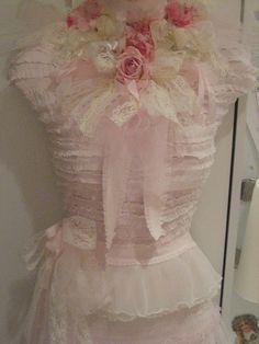 pink vintage corset