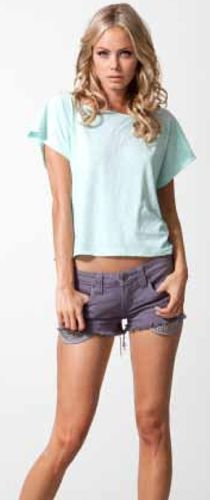 Adrian Top in Seafoam and shorts
