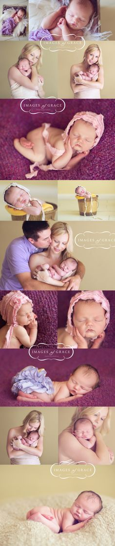Adorable newborn shoot from Images of Grace