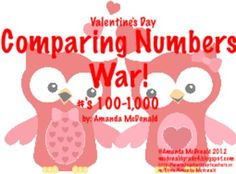 Valentine's Day Comparing Numbers