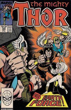 THOR # 395 MARVEL COMICS 1988 TOM DeFALCO / RON FRENZ vf-(7.5)