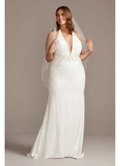 Stars A-Line Plus Size Wedding Dress | David's Bridal Plus Wedding Dresses, How To Dress For A Wedding, Girls Formal Dresses, Cute Wedding Dress, Davids Bridal Dresses, Wedding Dress Styles, Elegant Dresses, Nice Dresses, Sexy Dresses