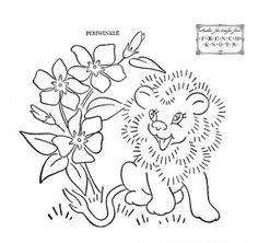 vintage animal and flower embroidery patterns.