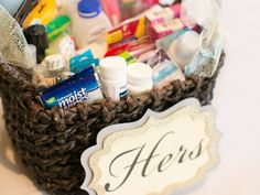 What Do I Include in Bathroom Baskets? | Photo by: J Anne Photography | TheKnot.com