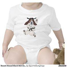 Basset Hound Black Belt Expert Baby Bodysuit