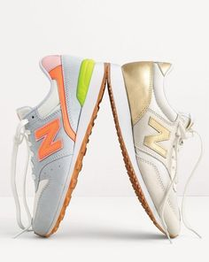 J.Crew women's New Balance® for J.Crew 696 and New Balance® for J.Crew 620 sneakers.  Love the gold ones!