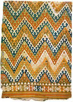 Kilim, Vakiflar Carpet Museum, Istanbul, 19th Century, Eskisehir, Sivrihisar