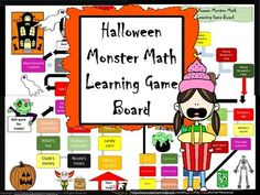 Halloween+Monster+Math+Learning+Game+Board+from+TiePlay+Educational+Resources+LLC+on+TeachersNotebook.com+-++(8+pages)++-+Price+$1.00+Boo...!+It's+time+for+scary+fun.+Have+a+great+time+learning+math+with+Halloween+Monster+Math+Learning+Game+Board.+Halloween+Monster+Math+Task+Cards+are+sold+separately.+