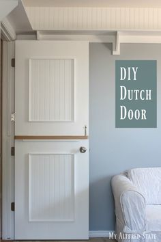 How To Make A Diy Interior Dutch Door In My Home Pinterest And Doors