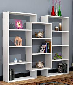Cool Bookshelves, Bookshelf Design, Wall Shelves Design, Home Office Furniture Design, Home Decor Furniture, Home Furnishings, Living Room Partition Design, Room Partition Designs, Home Decor Shelves