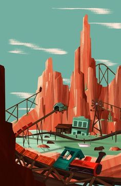 visualgraphc.com big thunder | Big Thunder Mountain Art Print