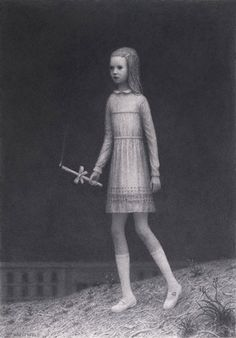 Aron Wiesenfeld (American: 1972 - ) | COMMUNION | charcoal on paper 36 x 25 inches 2011