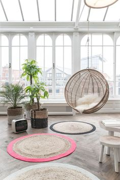"""Hammock chair """"Rotan"""" by HK Living – Image 11 - Decoration For Home Home Living Room, Living Spaces, Interior Architecture, Interior Design, Deco Design, Home And Deco, My New Room, Home Decor Inspiration, Furniture Decor"""