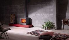 Wood heating stove / contemporary / metal 16-CUBE Stûv