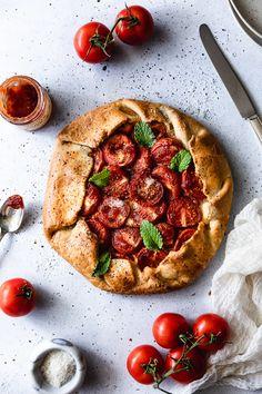 Ricotta Tart Recipe, Galette Recipe, Brunch Recipes, Summer Recipes, Tomato Jelly, Quiche, Food Crush, Food Photography Tips, Lunch Menu