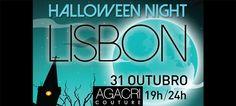 """Agracri Couture """"veste-se a rigor"""" na Halloween Night Lisbon Halloween Night, Lisbon, Neon Signs, Couture, Weddings, Haute Couture"""