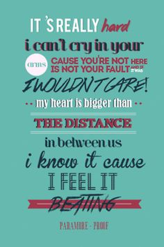 Proof- Paramore