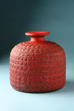 Stig Lindberg; Glazed Ceramic Vase, 1960s.
