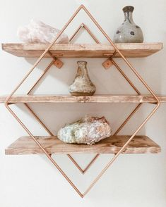 Trendy Rose Gold Room Décor Ideas to Embark On Rose Gold Room Decor, Rose Gold Rooms, Marble Room Decor, Rose Gold Interior, Room Ideas Bedroom, Bedroom Decor, Nursery Decor, Gold Shelves, Wooden Shelves