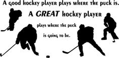 A great Hockey player vinyl wall art decal by Pasargad on Etsy, $29.99
