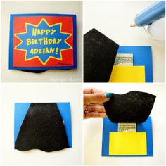 Easy DIY Superhero Birthday Card